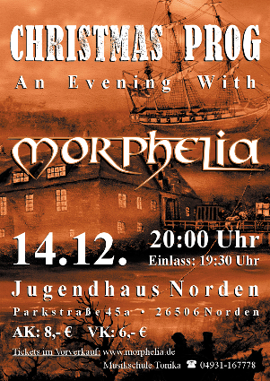 Christmas Prog - An Evening With Morphelia - 14.12.2012